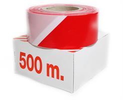 Afspærringsfolie 500 mtr. rød/hvid