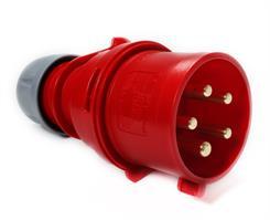 Stikprop CEE - Han - 400V/32A, m/ fasevender - Rød