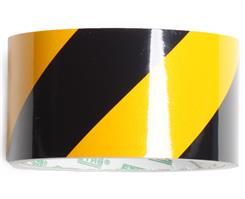Reflekstape gul/sort 50 mm x 5 mtr.