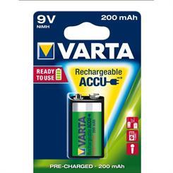 Batteri 9V, genopladelig 8,4V
