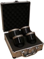 Diamantborsæt 55-57-60-68 mm, i kuffert