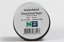 Isolerbånd sort 50 mm x 20 mtr
