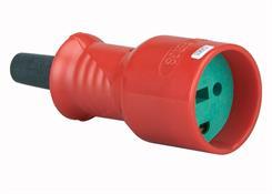 Forlængerled m/jord - Hun - 230V