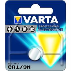 Batteri knapcelle CR1/3N lithium 3V.