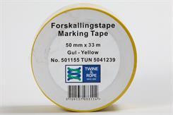 Forskallingstape gul 50 mm x 33 mtr.