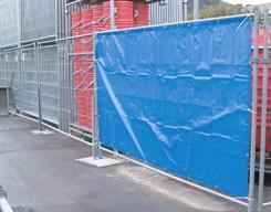 Presenning t/byggepladshegn, blå