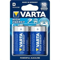 Batteri LR20/D Alkaline, pk. á 2 stk.