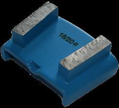 Diamantsegment t/ HTC ny beton - blå (abrasiv materiale) (korn 18/20)