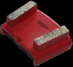Diamantsegment t/ HTC gl. beton - rød (korn 18/20)