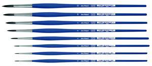 Syntetisk acryl pensel - rund - nr. 06